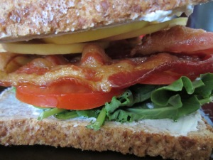 B.G.G.A.T - Bacon, Goat Cheese, Greens, Apple and Tomato