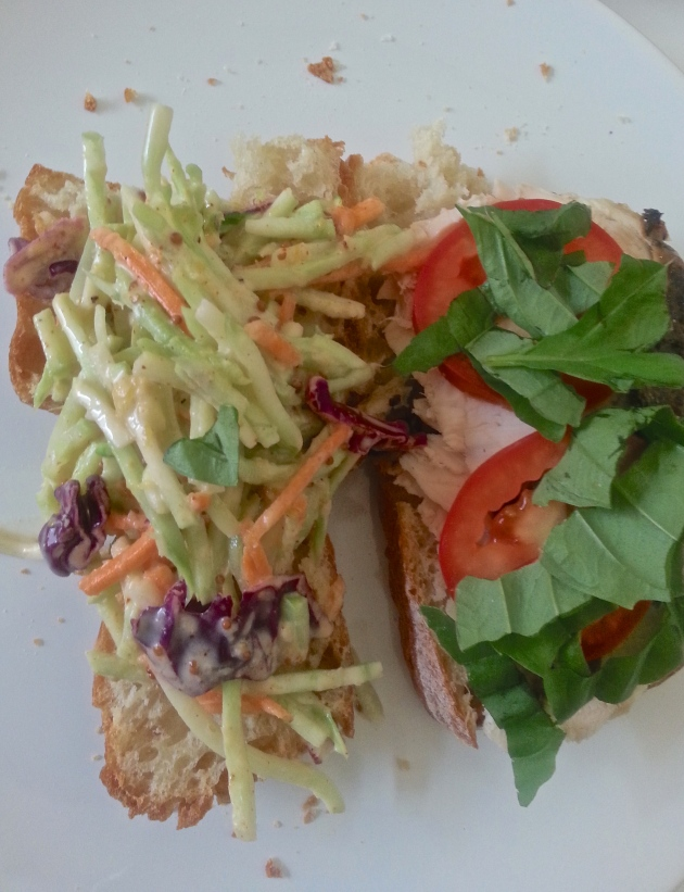 Creamy coleslaw and chix