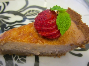 Strawberry Custard Pie for EB contest